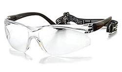 A pair of protective glasses