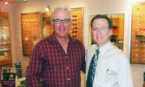 Dr. Zusman with Joe Maddon, manager of the Tampa Rays